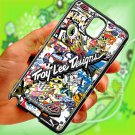 troy lee design stickerbomb motocross supercross fit for samsung galaxy note 3 black case cover
