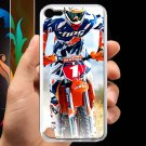 kurt caselli biker supercross motocross racing fit for ipod touch 5 white case cover