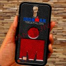 triathlon logo ironman leather pattern fit for samsung galaxy S4 S 4 S IV black case cover