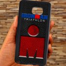 triathlon logo ironman leather pattern fit for samsung galaxy S6 S 6 S VI edge+ black case cover