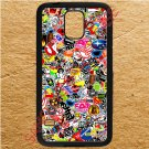 sticker bomb racing ghostbusters subaru fit for samsung galaxy note 4 black case cover