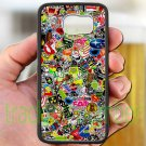 sticker bomb racing ghostbusters subaru fit for samsung galaxy S6 S 6 S VI black case cover