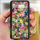 sticker bomb racing ghostbusters subaru fit for samsung galaxy note 5 black case cover