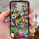 sticker bomb racing vans shorty's hop fit for samsung galaxy note 4 black case cover