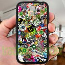 sticker bomb racing vans shorty's hop fit for samsung galaxy S4 S 4 S IV black case cover