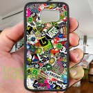 sticker bomb racing vans shorty's hop fit for samsung galaxy S6 S 6 S VI black case cover