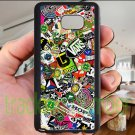 sticker bomb racing vans shorty's hop fit for samsung galaxy S6 S 6 S VI edge+ black case cover