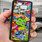 sticker bomb racing hoonigan subaru fit for samsung galaxy note 5 black case cover