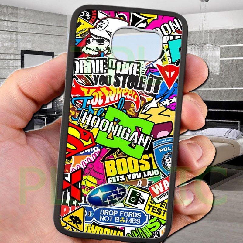 sticker bomb racing hoonigan subaru fit for samsung galaxy S6 S 6 S VI black case cover