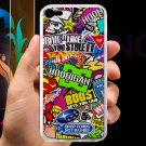 sticker bomb racing hoonigan subaru fit for ipod touch 5 white case cover