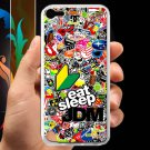 Eat Sleep JDM sticker bomb ghostbusters subaru fit for ipod touch 5 white case cover