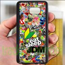 Eat Sleep JDM sticker bomb ghostbusters subaru fit for samsung galaxy note 4 black case cover