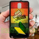 Eat Sleep JDM sticker bomb wood pattern fit for samsung galaxy note 3 black case cover