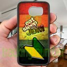 Eat Sleep JDM sticker bomb wood pattern fit for samsung galaxy S6 S 6 S VI black case cover