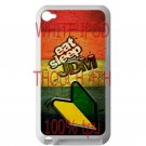 Eat Sleep JDM sticker bomb wood pattern fit for ipod touch 4 white case cover