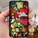Eat Sleep JDM sticker bomb japan racing fit for samsung galaxy note 3 black case cover