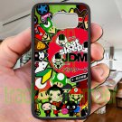 Eat Sleep JDM sticker bomb japan racing fit for samsung galaxy S6 S 6 S VI edge black case cover