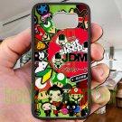Eat Sleep JDM sticker bomb japan racing fit for samsung galaxy S6 S 6 S VI edge black case cover