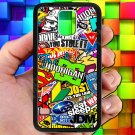 Eat Sleep JDM sticker bomb hoonigan subaru fit for samsung galaxy note 4 black case cover