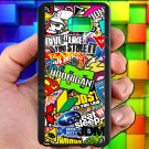 Eat Sleep JDM sticker bomb hoonigan subaru fit for samsung galaxy note 5 black case cover