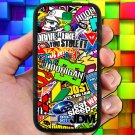 Eat Sleep JDM sticker bomb hoonigan subaru fit for samsung galaxy S4 S 4 S IV black case cover