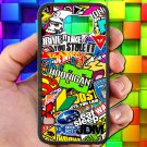 Eat Sleep JDM sticker bomb hoonigan subaru fit for samsung galaxy S6 S 6 S VI black case cover