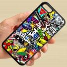 Eat Sleep JDM sticker bomb gymkhana illest subaru fit for iphone 5C black case cover
