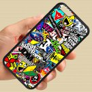 "Eat Sleep JDM sticker bomb gymkhana illest subaru fit for iphone 6 4.7"" black case cover"