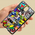 Eat Sleep JDM sticker bomb gymkhana illest subaru fit for samsung galaxy note 3 black case cover