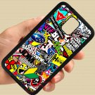 Eat Sleep JDM sticker bomb gymkhana illest subaru fit for samsung galaxy S5 S 5 S V black case cover