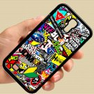 Eat Sleep JDM sticker bomb gymkhana illest subaru fit for samsung galaxy S4 S 4 black case cover