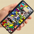 Eat Sleep JDM sticker bomb gymkhana illest subaru fit for samsung galaxy S6 edge+ black case cover