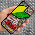 Eat Sleep JDM sticker bomb motocross dubway fit for iphone 5C black case cover
