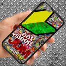 "Eat Sleep JDM sticker bomb motocross dubway fit for iphone 6 4.7"" black case cover"