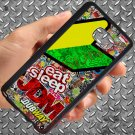 Eat Sleep JDM sticker bomb dubway fit for samsung galaxy S6 S 6 S VI edge+ black case cover
