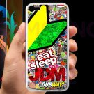 Eat Sleep JDM sticker bomb motocross dubway fit for ipod touch 5 white case cover
