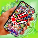 Eat Sleep JDM sticker bomb hand racing fit for iphone 5 5s black case cover