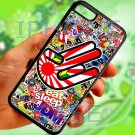 Eat Sleep JDM sticker bomb hand racing fit for iphone 5C black case cover