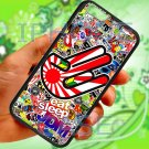 "Eat Sleep JDM sticker bomb hand racing fit for iphone 6 4.7"" black case cover"