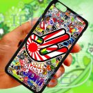 "Eat Sleep JDM sticker bomb hand racing fit for iphone 6 plus 5.5"" black case cover"