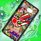 Eat Sleep JDM sticker bomb hand racing fit for samsung galaxy note 5 black case cover