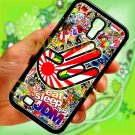 Eat Sleep JDM sticker bomb hand racing fit for samsung galaxy S4 S 4 S IV black case cover