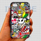 "Eat Sleep JDM sticker bomb hand hand logo fit for iphone 6 4.7"" black case cover"