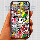 Eat Sleep JDM sticker bomb hand hand logo fit for iphone 6s black case cover