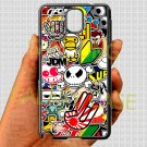 Eat Sleep JDM sticker bomb hand hand logo fit for samsung galaxy note 3 black case cover