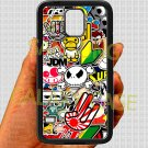 Eat Sleep JDM sticker bomb hand hand logo fit for samsung galaxy note 4 black case cover
