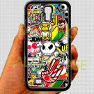 Eat Sleep JDM sticker bomb hand hand logo fit for samsung galaxy S4 S 4 S IV black case cover