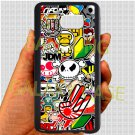 Eat Sleep JDM sticker bomb hand hand logo fit for samsung galaxy S6 S 6 S VI edge+ black case cover