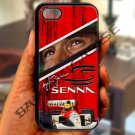 "Ayrton Senna F1 legend fit for iphone 6 4.7"" black case cover"