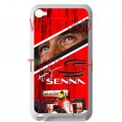 Ayrton Senna F1 legend fit for ipod touch 4 white case cover